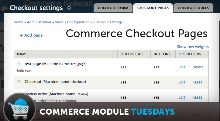 Drupal Commerce Checkout Pages