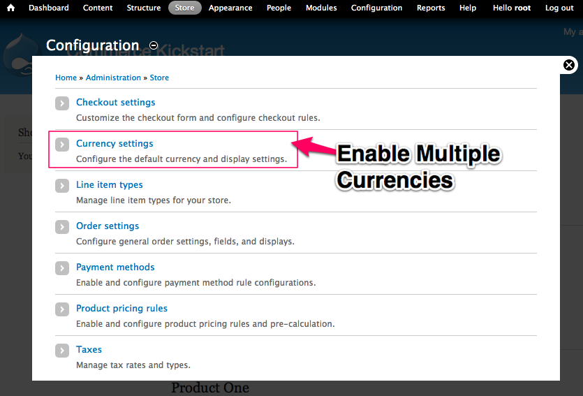 Enable Multiple Currencies